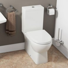Cali Oscar Close Coupled Toilet with Push Button Cistern - Soft Close Seat
