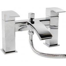 Cali Peak Waterfall Bath Shower Mixer Tap - Deck Mounted - Chrome