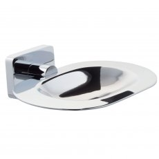 Cali Poppy Soap Dish and Holder - Chrome