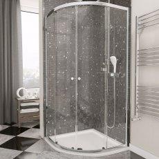 Cali Quatro Quadrant Shower Enclosure 900mm x 900mm - 4mm Glass