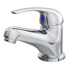 Cali Rio Monobloc Basin Mixer Tap Deck Mounted with Click Clack Waste - Chrome