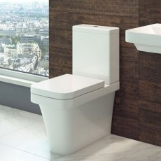Cali Rivelin Fully Cloaked Close Coupled Toilet - Quick Release Seat