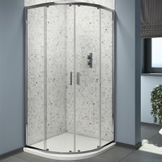 Cali Seis Quadrant Shower Enclosure - 900mm x 900mm - 6mm Glass