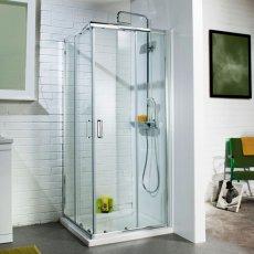 Cali Corner Entry Sliding Shower Enclosure - 800mm x 800mm - 6mm