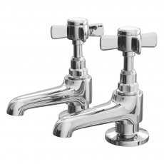 Cali Time Traditional Basin Pillar Taps - Pair - Chrome