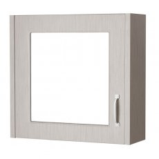 Cali Traditional Mirrored Bathroom Cabinet 600mm Wide 1 Door - Stone Grey