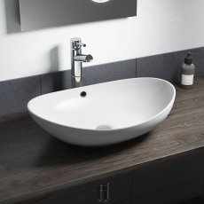 Cali Vessel Oval Counter Top Basin - 580mm Wide - 0 Tap Hole