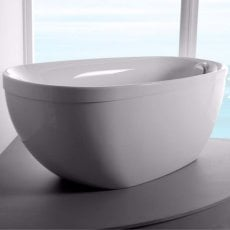 Carron Paradigm Freestanding Bath with Pop Up Waste 1550mm x 850mm - Carronite