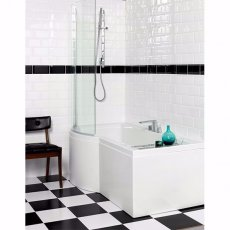 Carron Urban P-Shaped Shower Bath 1500mm x 750/900mm Left Handed - Carronite