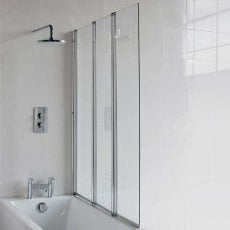 Cleargreen Bathscreen Three Panel 1450mm x 1180mm - 6mm Glass