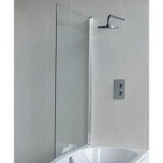 Cleargreen Ecocurve Shower Bath Bathscreen 1450mm x 850mm - 6mm Glass