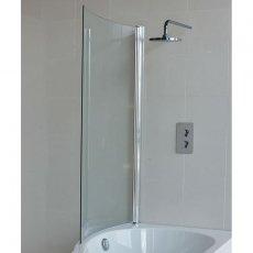Cleargreen Ecoround Shower Bath Bathscreen 1450mm x 820mm - 6mm Glass