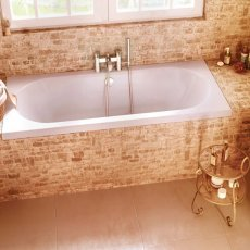 Cleargreen Verde Rectangular Double Ended Bath 1700mm x 750mm - White