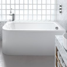 Cleargreen Viride Offset Rectangular Single Ended Bath 1700mm x 750mm - Right Handed