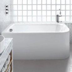 Cleargreen Viride Offset Rectangular Single Ended Bath 1800mm x 750mm - Left Handed
