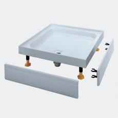 Coram Coratech Square Riser Shower Tray with Waste 900mm x 900mm 4 Upstand