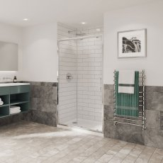 Coram Optima 6 Sliding Shower Door 1000mm Wide - 6mm Plain Glass