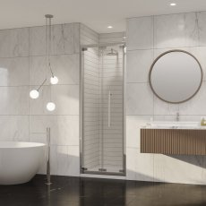 Coram Premier 8 Bi-Fold Shower Door 800mm Wide - 8mm Plain Glass