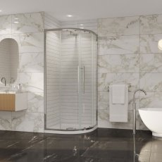 Coram Premier 8 Quadrant Shower Enclosure 900mm x 900mm - 8mm Plain Glass