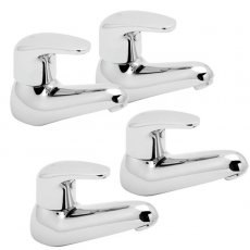 Deva Adore Basin Taps and Bath Taps, Chrome