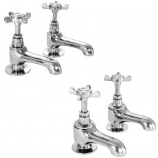 Deva Coronation Basin Taps and Bath Taps, Chrome