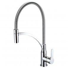 Deva Hawei Flexi Pull-Out Kitchen Sink Mixer Tap - Chrome