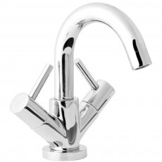 Deva Insignia Mono Basin Mixer Tap Dual Handle with Press Top Waste - Chrome