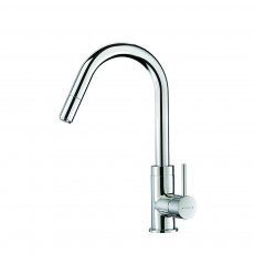 Deva Kaha Side Lever Kitchen Sink Mixer Tap with Pull Out and Swivel Spout - Chrome
