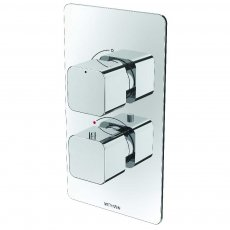 Deva Kiri Thermostatic Concealed Shower Valve Dual Handle - Chrome