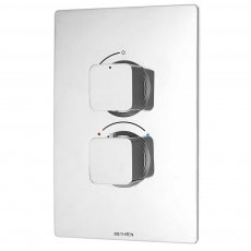 Deva Kiri Thermostatic Concealed Shower Valve Dual Handle ABS Plate - Chrome