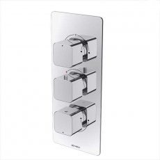 Deva Kiri Thermostatic Concealed Shower Valve with 3 Outlet Triple Handle - Chrome