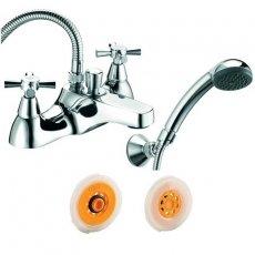Deva Milan Deck Mounted Bath Shower Mixer with Flow Regulator, Chrome
