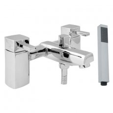Deva Rubic Pillar Mounted Bath Shower Mixer Tap - Chrome
