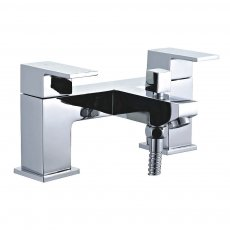 Duchy Edgeware Bath Shower Mixer Tap with Shower Kit and Wall Bracket - Chrome