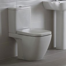 Duchy Fuchsia Close Coupled Toilet with Push Button Cistern - Soft Close Seat