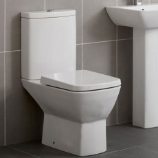 Duchy Jasmine Close Coupled Toilet with Push Button Cistern - Soft Close Seat