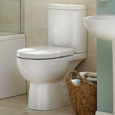 Duchy Lily Close Coupled Toilet with Push Button Cistern - Soft Close Seat
