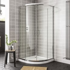 Duchy Spring Offset Quadrant 2 Doors Shower Enclosure 1200mm x 900mm - 6mm Clear Glass