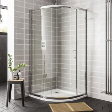 Duchy Spring Offset Quadrant 1 Door Shower Enclosure 1200mm x 800mm - 6mm Clear Glass