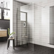 Duchy Spring Wetroom Glass Panel 1400mm Wide - 8mm Clear Glass