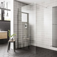 Duchy Spring Wetroom Glass Panel 700mm Wide - 8mm Clear Glass
