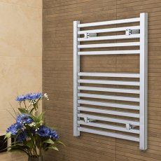 Duchy Todi Square Bar Heated Towel Rail 1703mm H x 500mm W Chrome