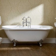 Duchy Traditional Roll Top Oval Freestanding Bath with Legs - 1700mm x 800mm