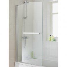 Duchy Twilight Bath Screen, 1400mm High x 800mm Wide, 6mm Glass