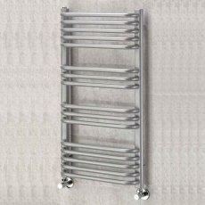 EcoRad Contour Designer Towel Rail, 1300mm H x 500mm W, RAL