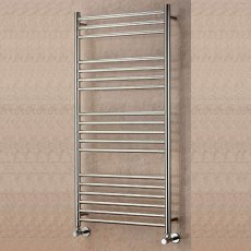 EcoRad Edge Straight Ladder Towel Rail, 800mm H x 600mm W, Polished Stainless Steel
