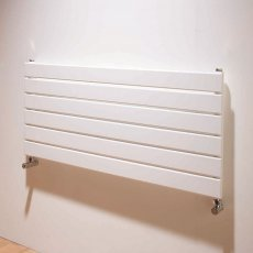 EcoRad Flat Tube Single Horizontal Radiator 464mm High x 1220mm Wide 6 Sections White