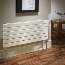 EcoRad Flat Tube Double Horizontal Radiator 464mm High x 1020mm Wide 12 Sections White