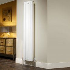 EcoRad Flat Top Aluminium Radiator 2046mm High x 400mm Wide 5 Sections White