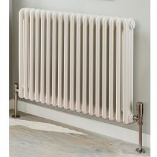 EcoRad Legacy 3 column Radiator 602mm High x 249mm Wide 5 Sections - White